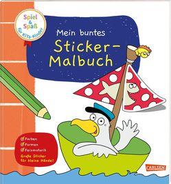 Spiel+Spaß für KiTa-Kinder: Mein buntes Sticker-Malbuch von Himmel,  Anna, Koppers,  Theresia