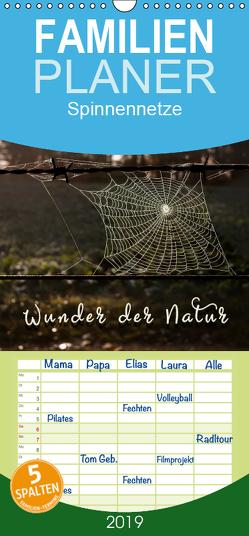 Spinnennetze – Wunder der Natur – Familienplaner hoch (Wandkalender 2019 , 21 cm x 45 cm, hoch) von Roder,  Peter
