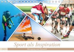 Sport als Inspiration (Tischkalender 2021 DIN A5 quer) von Gödecke,  Dieter