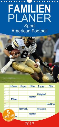 Sport. American Football – Familienplaner hoch (Wandkalender 2019 , 21 cm x 45 cm, hoch) von Stanzer,  Elisabeth