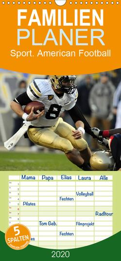Sport. American Football – Familienplaner hoch (Wandkalender 2020 , 21 cm x 45 cm, hoch) von Stanzer,  Elisabeth