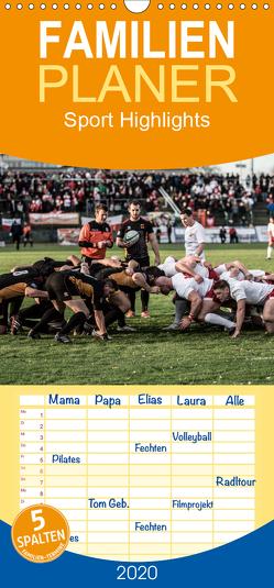 Sport Highlights – Familienplaner hoch (Wandkalender 2020 , 21 cm x 45 cm, hoch) von Bradel,  Detlef