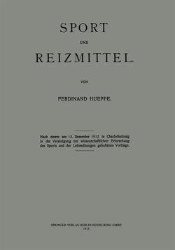 Sport und Reizmittel von Hueppe,  Ferdinand