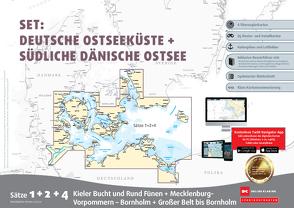 Sportbootkarten Satz 1, 2 und 4 – Set: Deutsche Ostsee und Südliche Dänische Ostsee (Ausgabe 2021)