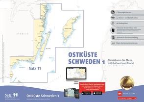 Sportbootkarten Satz 11: Ostküste Schweden 1 (Ausgabe 2021/2022)