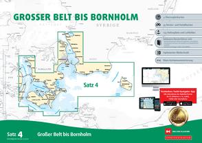 Sportbootkarten Satz 4: Großer Belt bis Bornholm (Ausgabe 2021)