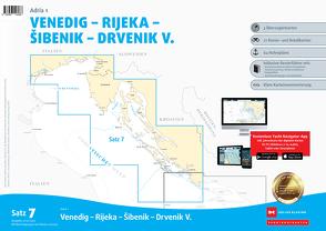 Sportbootkarten Satz 7: Adria 1 (Ausgabe 2019/2020) von Agency,  Danish Geodata