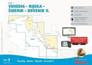 Sportbootkarten Satz 7: Adria 1 (Ausgabe 2021/2022) von Agency,  Danish Geodata