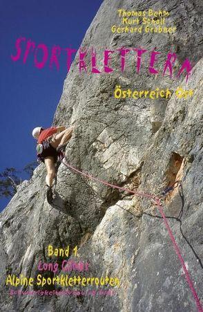 Sportklettern Österreich Ost – Long Climbs – alpine Sportkletterrouten von Behm,  Thomas, Grabner,  Gerhard, Schall,  Kurt