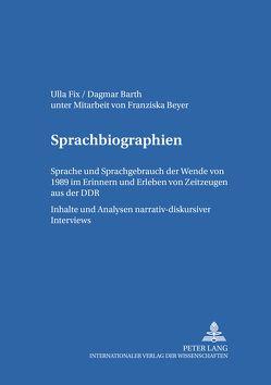 Sprachbiographien von Barth,  Dagmar, Fix,  Ulla