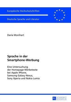 Sprache in der Smartphone-Werbung von Monihart M.A.,  Daria