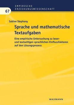 Sprache und mathematische Textaufgaben von Stephany,  Sabine
