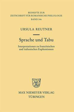 Sprache und Tabu von Reutner,  Ursula