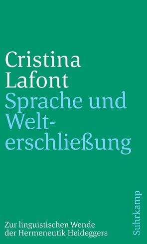 Sprache und Welterschließung von Lafont,  Cristina