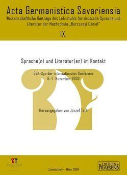 Sprache(n) und Literatur(en) im Kontakt von Tóth,  József