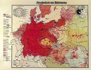 Sprachenkarte von Mitteleuropa (1938). 1:2000000