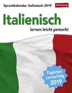 Sprachkalender Italienisch – Kalender 2019 von Butz,  Steffen, Harenberg, Stillo,  Tiziana