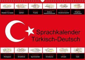 Sprachkalender Türkisch-Deutsch (Wandkalender 2018 DIN A3 quer) von Liepke,  Claus