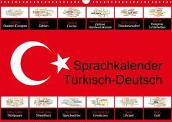 Sprachkalender Türkisch-Deutsch (Wandkalender 2019 DIN A3 quer) von Liepke,  Claus