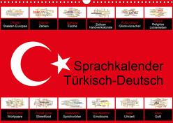 Sprachkalender Türkisch-Deutsch (Wandkalender 2020 DIN A3 quer) von Liepke,  Claus