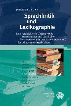 Sprachkritik und Lexikographie von Funk,  Johannes