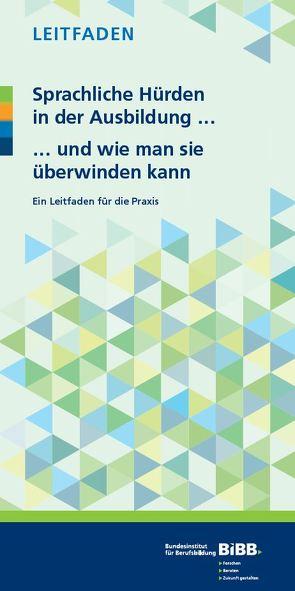 Sprachliche Hürden in der Ausbildung … … und wie man sie überwinden kann von Bethscheider,  Monika, Kaufmann,  Susan, Wullenweber,  Karin