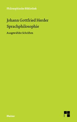 Sprachphilosophie von Heintel,  Erich, Herder,  Johann Gottfried, Zeuch,  Ulrike