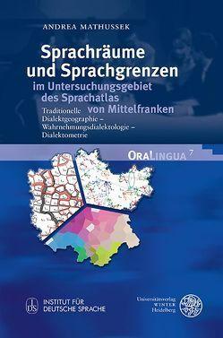 Sprachräume und Sprachgrenzen im Untersuchungsgebiet des Sprachatlas von Mittelfranken von Mathussek,  Andrea