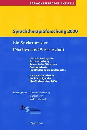 Sprachtherapie Aktuell / Sprachtherapieforschung 2000 von Homburg,  Gerhard, Iven,  Claudia, Maihack,  Volker