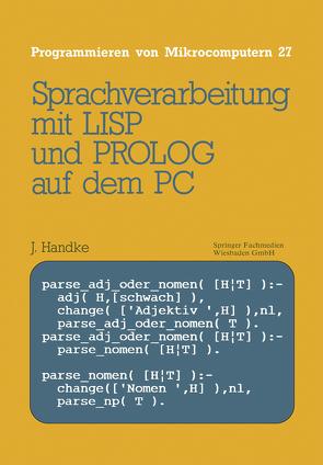 Sprachverarbeitung von Handke,  Jürgen