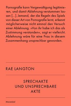 Sprechakte und unsprechbare Akte von Langton,  Rae