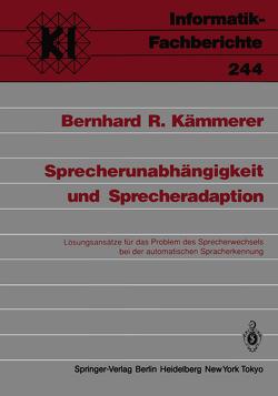 Sprecherunabhängigkeit und Sprecheradaption von Kämmerer,  Bernhard R.