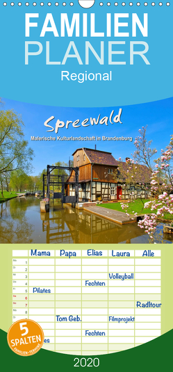 Spreewald – Malerische Kulturlandschaft in Brandenburg – Familienplaner hoch (Wandkalender 2020 , 21 cm x 45 cm, hoch) von LianeM