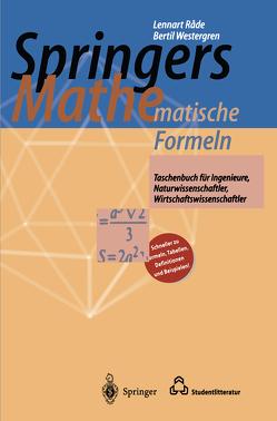 Springers Mathematische Formeln von Rade,  Lennart, Vachenauer,  P., Westergren,  Bertil