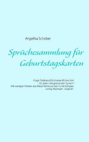 Sprüchesammlung für Geburtstagskarten von Schober,  Angelika