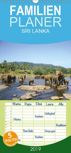 Sri Lanka – Familienplaner hoch (Wandkalender 2019 , 21 cm x 45 cm, hoch) von Rasch,  Clemens