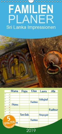 Sri Lanka Impressionen – Familienplaner hoch (Wandkalender 2019 , 21 cm x 45 cm, hoch) von Jilka,  Johann