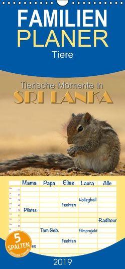 Sri Lanka – Tierische Momente – Familienplaner hoch (Wandkalender 2019 , 21 cm x 45 cm, hoch) von Matziol,  Michael