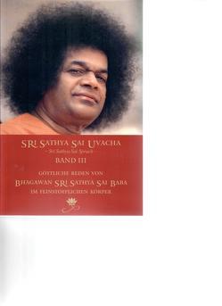 Sri Sathya Sai Uvacha – Sri Sathya Sai Sprach – Band 3 von Bernecker + Team,  Gerhard, Sathya Sai Baba,  Sri
