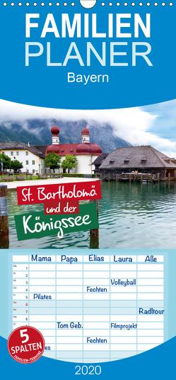 St. Bartholomä und der Königssee – Familienplaner hoch (Wandkalender 2020 , 21 cm x 45 cm, hoch) von Seidel,  Falko