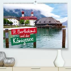St. Bartholomä und der Königssee (Premium, hochwertiger DIN A2 Wandkalender 2020, Kunstdruck in Hochglanz) von Seidel,  Falko