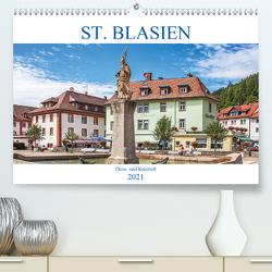St. Blasien – Dom- und Kurstadt (Premium, hochwertiger DIN A2 Wandkalender 2021, Kunstdruck in Hochglanz) von Brunner-Klaus,  Liselotte