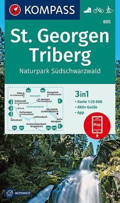 St. Georgen, Triberg, Naturpark Südschwarzwald von KOMPASS-Karten GmbH