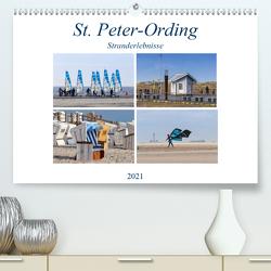 St. Peter-Ording Stranderlebnisse (Premium, hochwertiger DIN A2 Wandkalender 2021, Kunstdruck in Hochglanz) von Falke,  Manuela