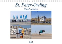 St. Peter-Ording Stranderlebnisse (Wandkalender 2021 DIN A4 quer) von Falke,  Manuela