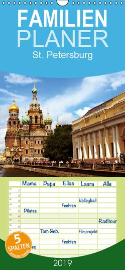 St. Petersburg – Familienplaner hoch (Wandkalender 2019 , 21 cm x 45 cm, hoch) von le Plat,  Patrick