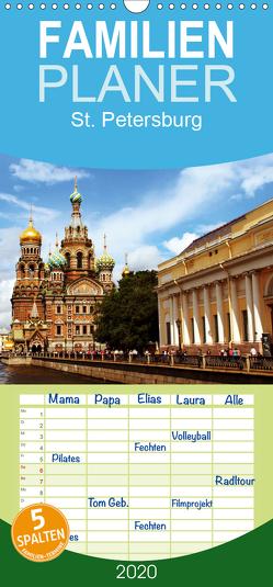 St. Petersburg – Familienplaner hoch (Wandkalender 2020 , 21 cm x 45 cm, hoch) von le Plat,  Patrick