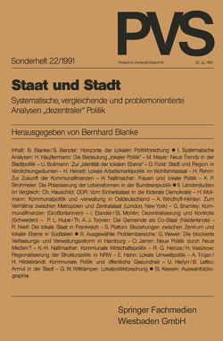 Staat und Stadt von Blanke,  Bernhard