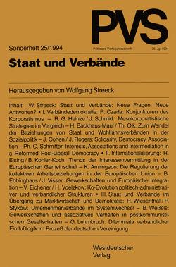 Staat und Verbände von Streeck,  Wolfgang