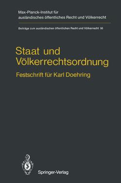Staat und Völkerrechtsordnung von Hailbronner,  Kay, Ress,  Georg, Stein,  Torsten